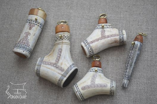 Salt and needle cases by Jorgen-Craft