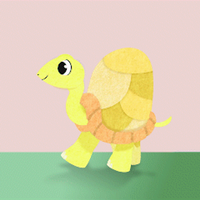 turtle walk test by bunnimation
