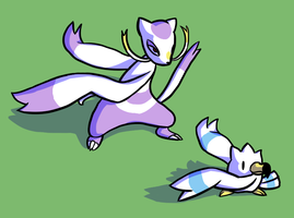 mienshao and wingull by Veskler