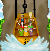 The island's waterfall!- Amusement park contest by Shi-Kuro