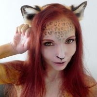 Gingerotica - Leopard Body Paint by Gingersnap-Pixie