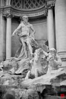 fontana de trevi, close-up by m-ajinah