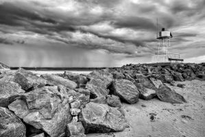 Lighthouse in Mono by CharmingPhotography