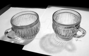 3d drawing cup #1 by LivieSukma