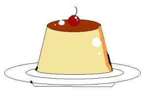 Pudding drawn on computer by CardCaptorMiele