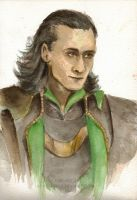 Loki watercolour by BowieKelly