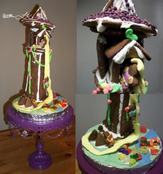 Rapunzel's Gingerbread Tower by WingedValiance