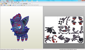 Zorua Papercraft Unfolding by riolushinx