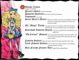 Ever After High - Blondie Lockes' Full Bio v3 by cjlou-the-bejeweler
