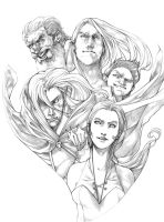 Companions of the Hall - pencils by Gido