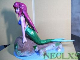 Ariel Mermaid Papercraft 4 by Neolxs