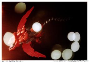 Epyon taking flight by nazee-conquers-hades
