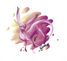 Floaty Espeon by Oyee