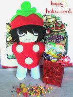 L in strawberry costume by VioletLunchell