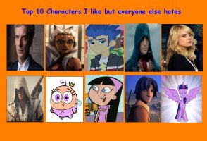 Top 10 Characters I like that Everyone Else Hates by GamerGirl14