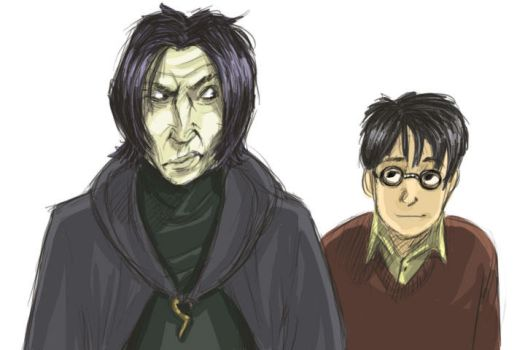 Snape and Harry by larkinheather