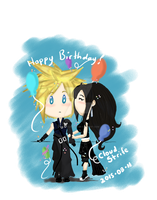 HAPPY BIRTHDAY CLOUD STRIFE by Sook-Yon9210
