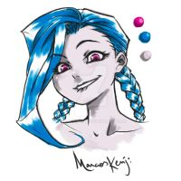 Jinx Portrait v2 by Mkuchima