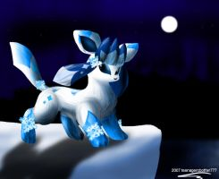 Polarzu the Glaceon by teenagerobotfan777