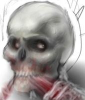 Skull-faced Zombie by SleepDebt