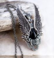 Dark Angel Pendant by Aranwen