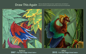 Draw This Again: Jungle Dragon by TaesoSpiritDragon