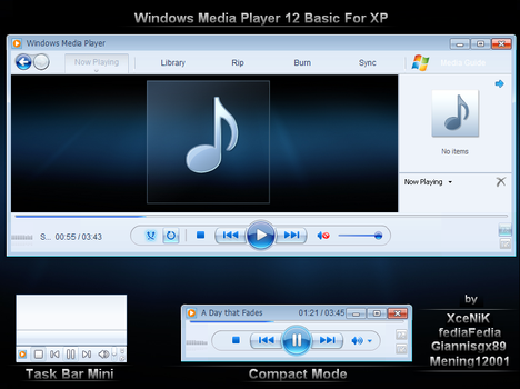 Windows Media Player 12 for XP by XceNiK