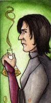 Snape the disgruntled Prof. by scarlettfoxx