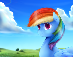 Just Rainbow dash by Blacky-Moon