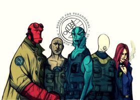 Colored Version of B.P.R.D. by haloangel1