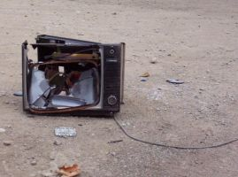 Broken television 1 by jdbartlett