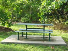 Picnic Bench Stock by BlackFireDesign