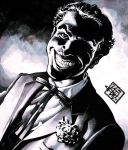 The Joker noir by RougeDK