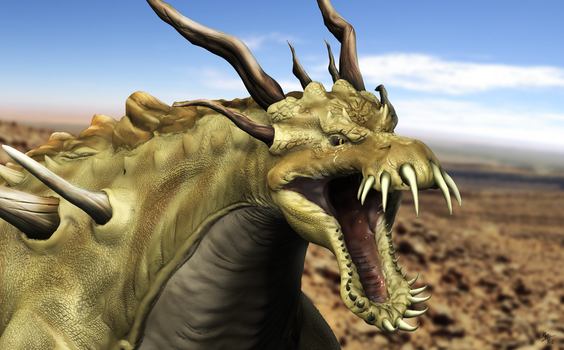 Assignment: Sith Krayt Dragon Close Up by A3DNazRigar