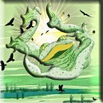 Falling frog by jennystokes