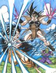 Saiyan Warrior Kakarot vs Earth Raditz by SSGJD7