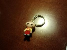 Kawaii Stewie Charm Keychain (Family Guy) by aoi9875