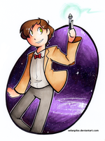 11th Doctor in marker by SelanPike