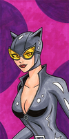 Catwoman Hand Colored Print by RichBernatovech