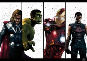 Avengers Line up 02 by JailHouseRock2