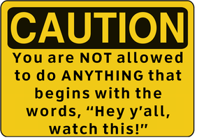 Caution Rule Sign by ebturner