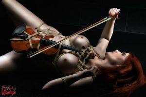 Nude Violin - Fine Art of Bondage by Model-Space