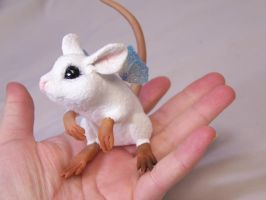 'Lucky'  ooak fairy Mouse by AmandaKathryn