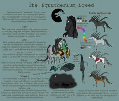 Equutherium--Vampire Horse breed sheet by ShinyAquaBlueRibbon