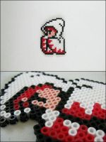 Final Fantasy 1 White Mage bead sprite by 8bitcraft