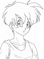 Videl Lineart by maga-a7x