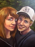 Caiti and Austin by blindthistle