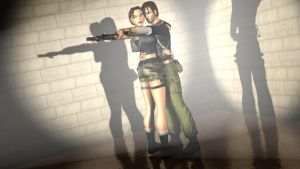 Kurtis Trent and Lara Croft by Lara-Croft-En-Force