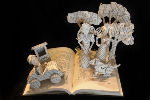 The Phantom Tollbooth Book Sculpture by wetcanvas
