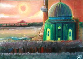 Mosque by The Lake by retrosai